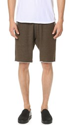 Reigning Champ Diagonal Terry Sweat Shorts Olive