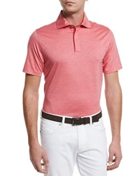 Ermenegildo Zegna Stretch Cotton Polo Shirt Strawberry Red Strwbr