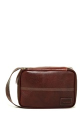 Timberland Tumbled Two Tone Leather Pack Travel Kit Brown
