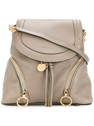 See By Chloe Convertible Backpack Women Calf Leather One Size Nude Neutrals