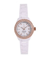 Toy Watch Ladies Crystallized Plasteramic White