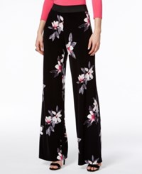 Alfani Petite Printed Wide Leg Pants Only At Macy's Flower Trail