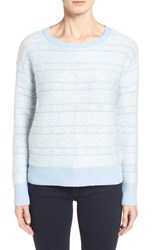 Women's Nordstrom Collection Fair Isle Wool And Cashmere Crewneck Sweater