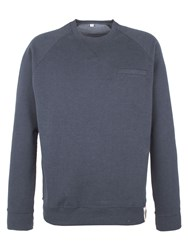 Racing Green Batchelor Pocket Detail Sweatshirt Navy