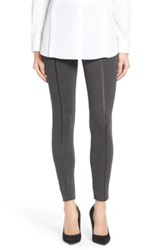 Lysse Faux Leather Inset Legging Gray