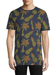 Wesc Maxwell Pineapple All Over Print Graphic Cotton T Shirt