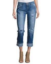 One Teaspoon Awesome Baggies Cropped Jeans Dark Blue