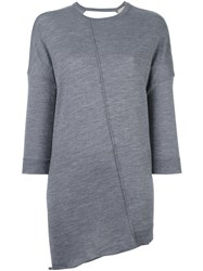 Nude Relaxed Fine Knit Top Grey