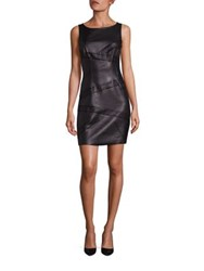 Bailey 44 Waterfall Faux Leather Dress Black