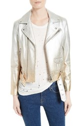 Iro Women's Calum Metallic Leather Jacket