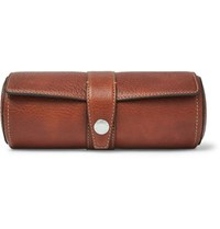 Brunello Cucinelli Full Grain Leather Watch Roll Brown