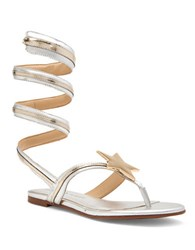 Katy Perry Hayley Star Thong Sandals Silver