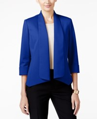 Kasper Callie Draped Blazer Electric Blue