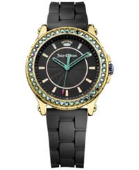 Juicy Couture Women's Hollywood Black Silicone Strap Watch 38Mm 1901338