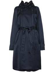 Y Project Double Breasted Trench Coat Blue