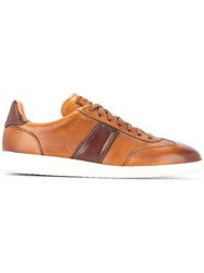 Magnanni Contrast Detail Sneakers Brown