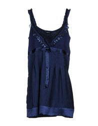Roccobarocco Short Dresses Dark Blue