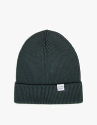 Norse Projects Cotton Watch Beanie In Verge Green