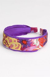 L. Erickson Two Tone Scarf Headband Purple Bloom