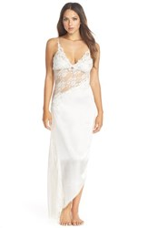 Women's Jonquil 'Winter Bride' Satin And Lace Nightgown