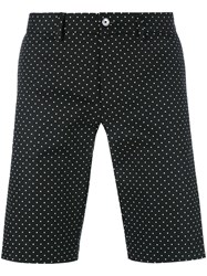 Dolce And Gabbana Polka Dot Shorts Black