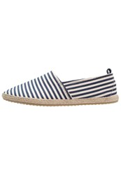 Pier One Espadrilles Navy White Dark Blue