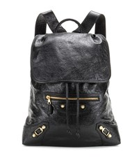 Balenciaga Giant Traveller Leather Backpack Black