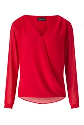 James Lakeland Crossover Blouse Red