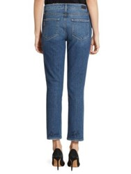 Paige Jacqueline Embroidered Straight Leg Jeans Good Life Embroidery