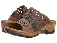 Josef Seibel Catalonia 60 Brown Multi Clog Mule Shoes