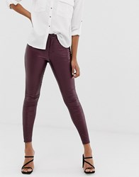 Vila Coated Skinny Jeans Red