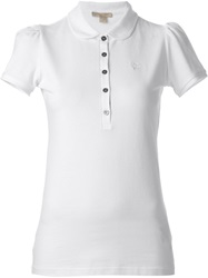 Burberry Brit Peter Pan Collar Polo Shirt White
