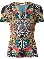 Versace Collection Baroque Aztec Print T Shirt