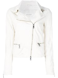 Giorgio Brato Textured Biker Jacket Nude And Neutrals