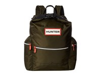 Hunter Original Top Clip Nylon Backpack Dark Olive Backpack Bags
