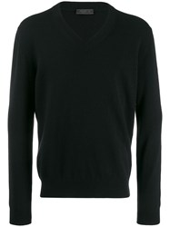 Prada V Neck Jumper Black