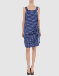 Rose' A Pois Short Dresses Blue