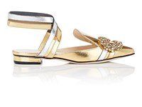 Giannico Daphne Leather Mules Gold