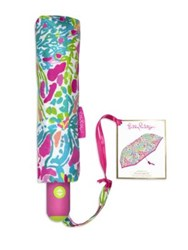 Lilly Pulitzer Printed Travel Umbrella No Color