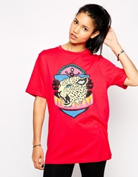 Illustrated People Cheetah T Shirt Pink