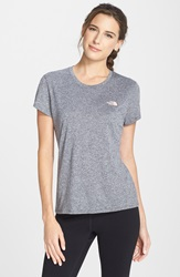 The North Face 'Reaxion Amp' Tee Heather Grey Twist Orange