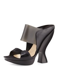 Donna Karan Sculpted High Heel Mule Black