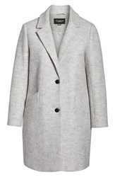 Marc New York Plus Size Paige Boucle Coat Ivory Heather