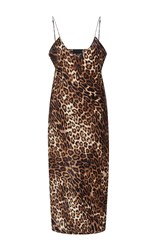 Nili Lotan Short Leopard Cami Dress Print
