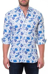 Maceoo Luxor Peaceful Slim Fit Sport Shirt White