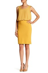 Philosophy Dane Lewis Solid Ponte Pencil Skirt Yellow