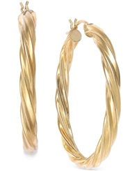 Macy's Twisted Hoop Earrings In 14K Gold
