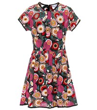 Red Valentino Floral Embroidered Minidress Multicoloured