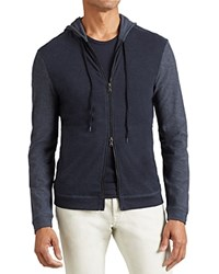 John Varvatos Star Usa Color Block Zip Hoodie Sweatshirt Night Sky