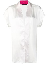 Haider Ackermann V Neck Blouse White